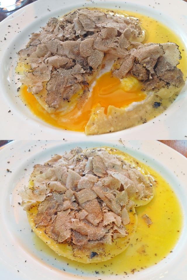 Ravioli mit Eifüllung, an Buttersauce, mit Alba Trüffel