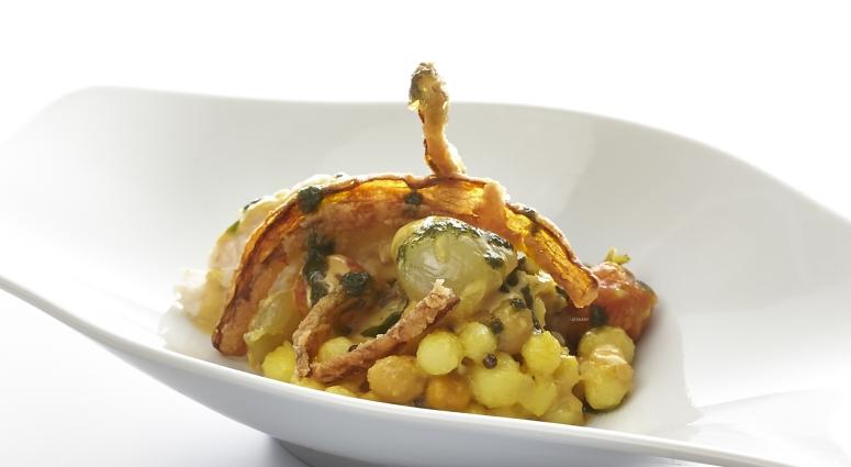 Kichererbsen, Kartoffel und Aubergine