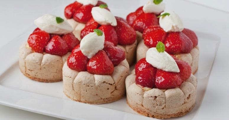 Mini-Daqouises mit Erdbeeren